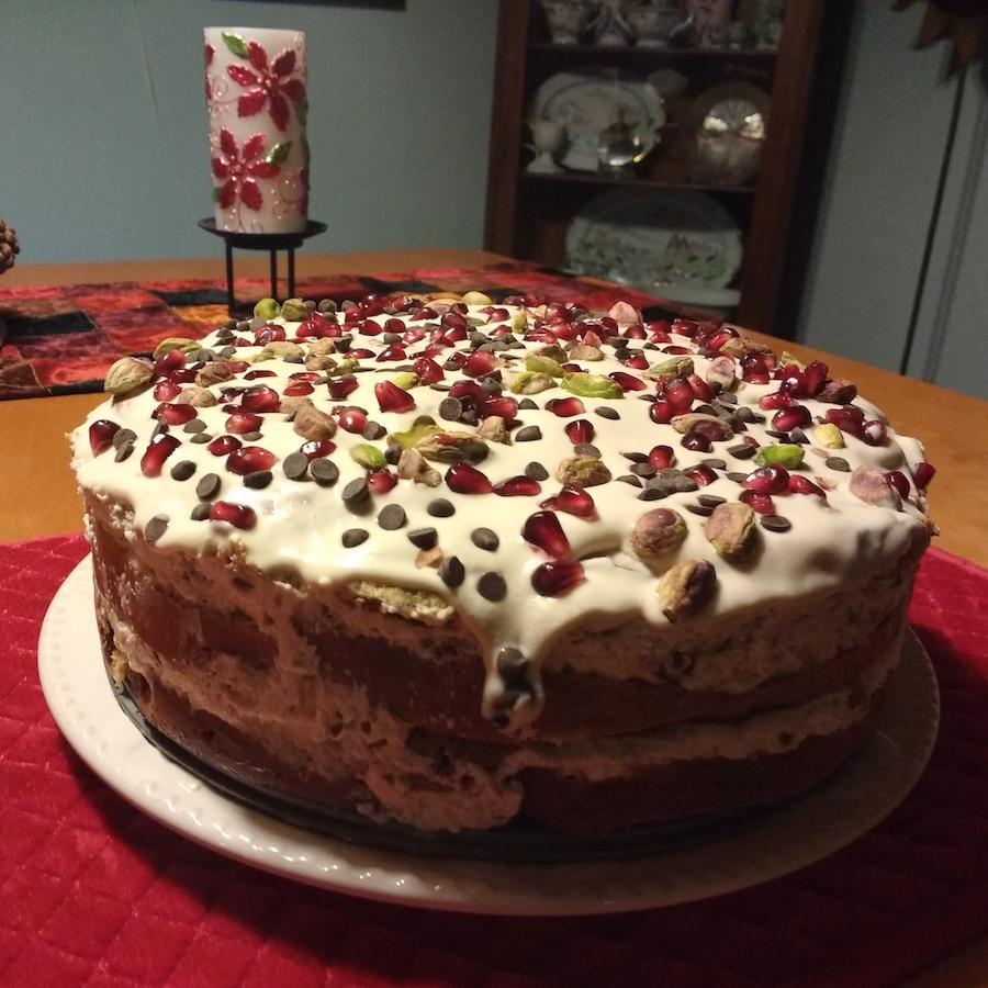 Italian Christmas pudding cake