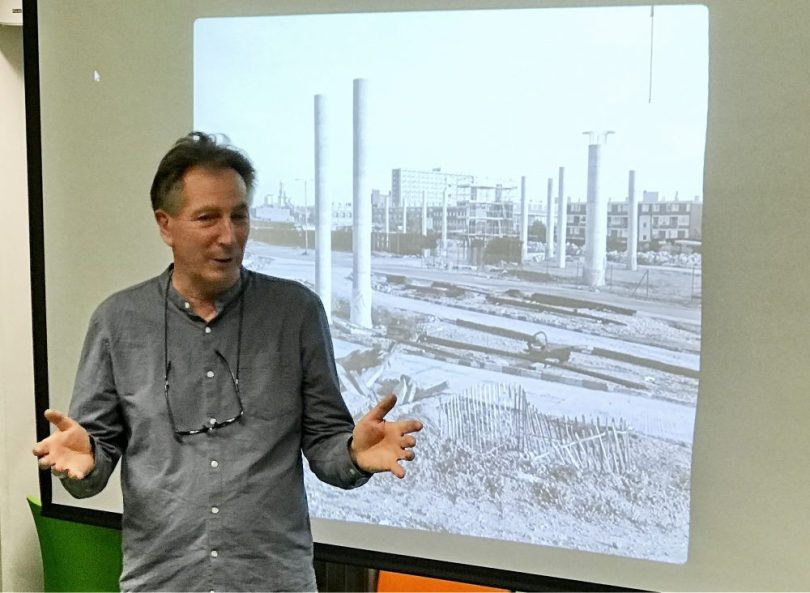 Mike Seabourne at the launch of his book: The Isle of Dogs, before the big money.