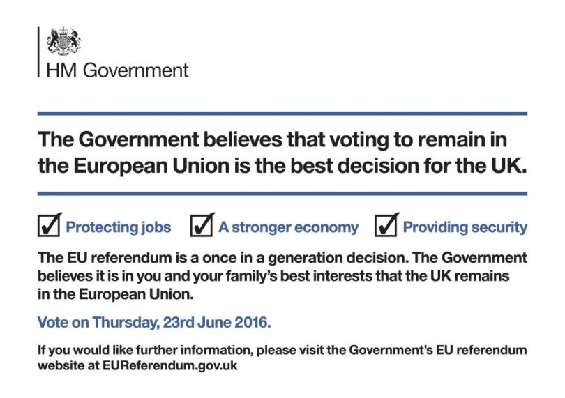 Cameron's leaflet last page
