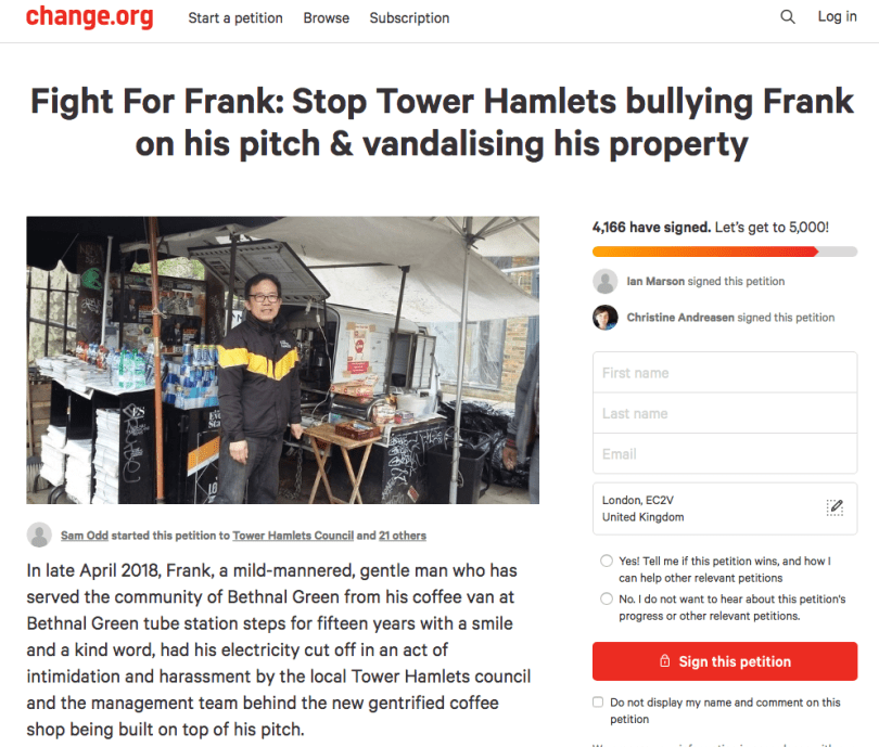 Frank Wang petition