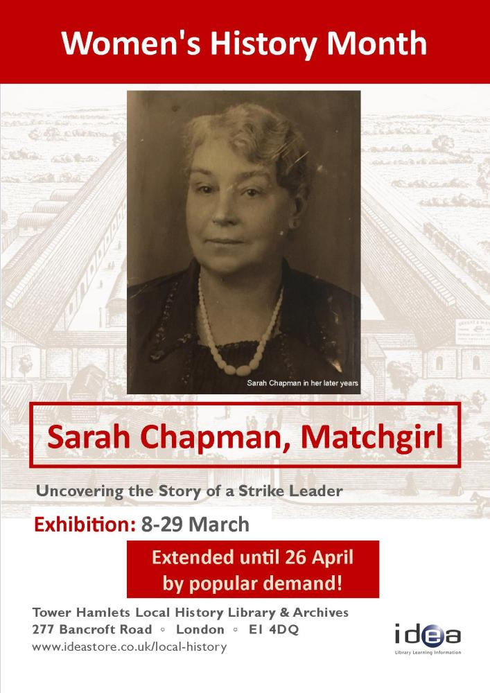Sarah Chapman Exhibition extended to 26th April