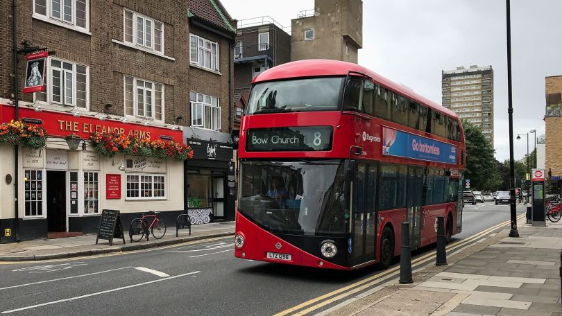 No 8 Bus on Old Ford Road, Bow