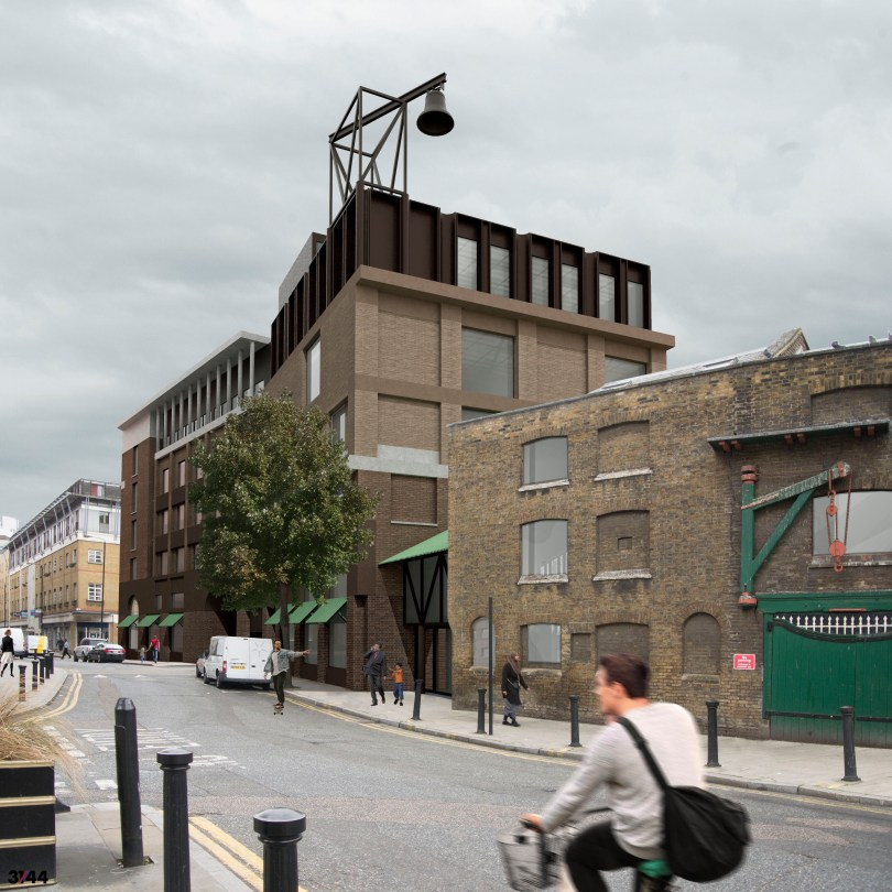 Rendering of Whitechapel Hotel by 31:44 Architects