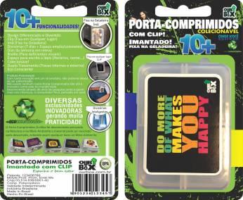 Porta comprimidos ima e clip ourbox