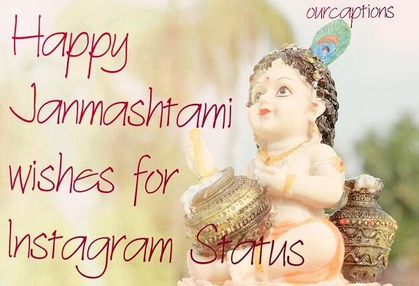 Janmashtami Status for Instagram | Quotes, Wishes & Pictures