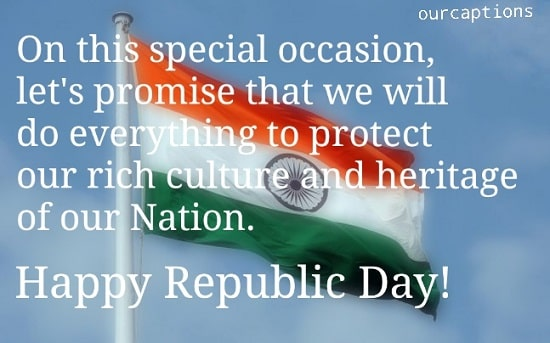 Republic Day Captions Greeting