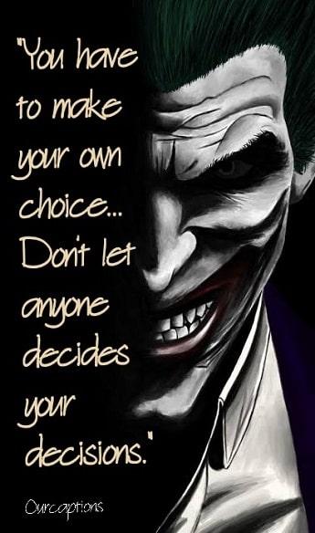 Joker Instagram Captions
