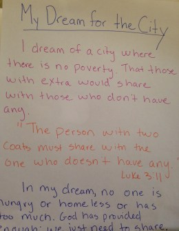 Dreams: A City where there is no Poverty