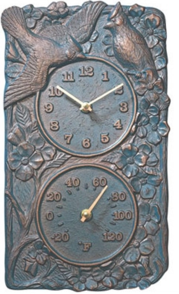 Cardinal IndoorOutdoor Thermometer Wall Clock