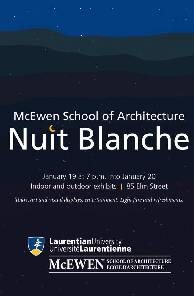 THE MCEWAN SCHOOL OF ARCHITECTURE OPENS ITS DOORS FOR NUIT BLANCHE