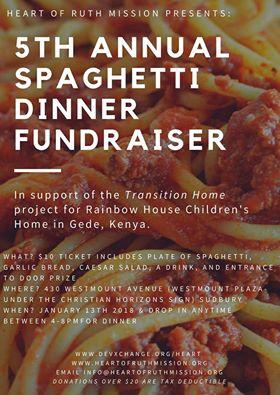Heart of Ruth Mission: 5th Annual Spaghetti Dinner