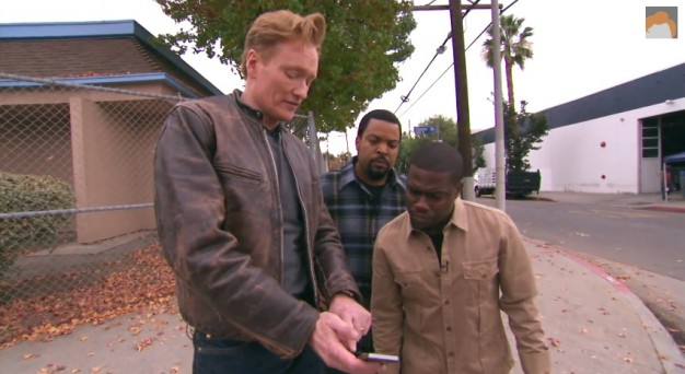 Conan, Ice Cube, and Kevin Hart Share a Lyft Car, Hilarity Ensues
