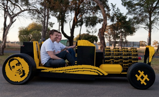You Ain't Cool Unless You Drive a Life-Size, Air-Powered Lego Hot Rod