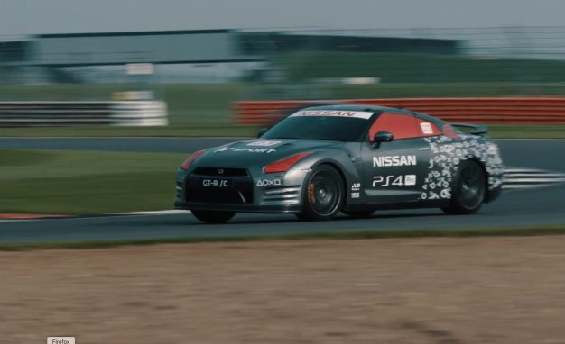 R/C Kaiju! Radio-Controlled Full-Size Nissan GT-R Laps Silverstone! [Video]