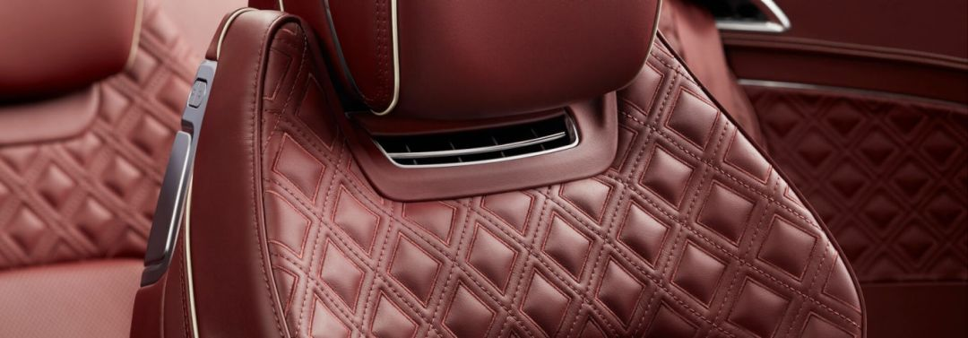 New Bentley Continental GT Convertible red quilted cricket ball leather