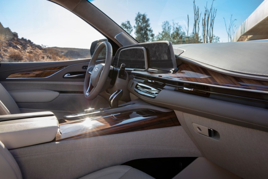 The new curved OLED display is the centerpiece of the interior,