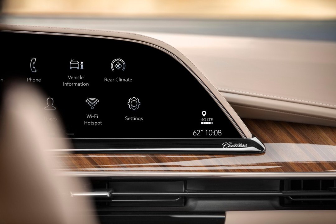 The 2021 Escalade showcases the first curved OLED in the industr