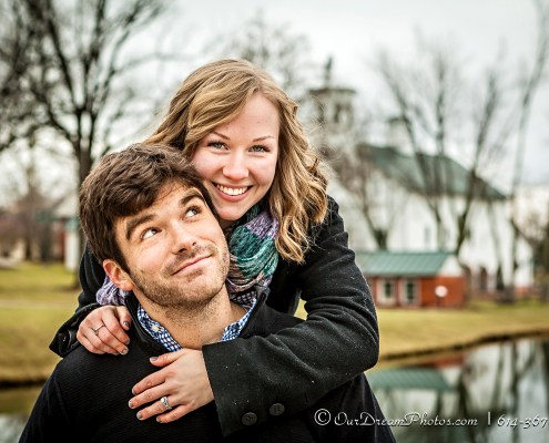 Engagement session with Erin Kenne and Justin Manner photographed Sunday, December 28, 2014 at the Everal Barn & Homestead in Westerville, Ohio. (© James D. DeCamp | http://OurDreamPhotos.com | 614-367-6366)