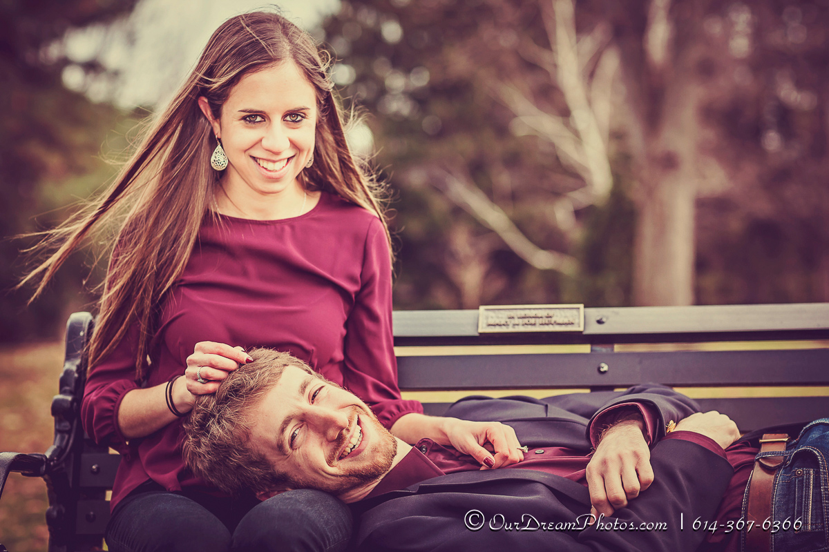 Engagement session with Robyn Silver and Aaron Feldman photographed Friday, December 18, 2015. (© James D. DeCamp | http://OurDreamPhotos.com | 614-367-6366)