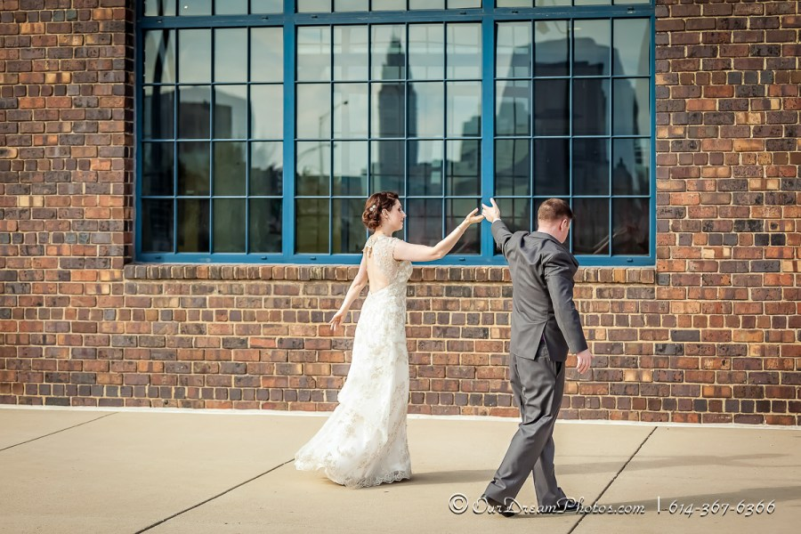The wedding reception of Leah Cuthbert and Jason Dahlen photographed Saturday, March 14, 2015 at Dock 580. (© James D. DeCamp   http://OurDreamPhotos.com   614-367-6366)