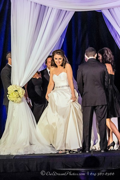 The wedding and reception of Ari Jacobs and Alec Marcantonio photographed Sunday, September 6, 2015 at the Hilton Columbus Downtown. (© Amanda Muschlitz | http://OurDreamPhotos.com | 614-367-6366)
