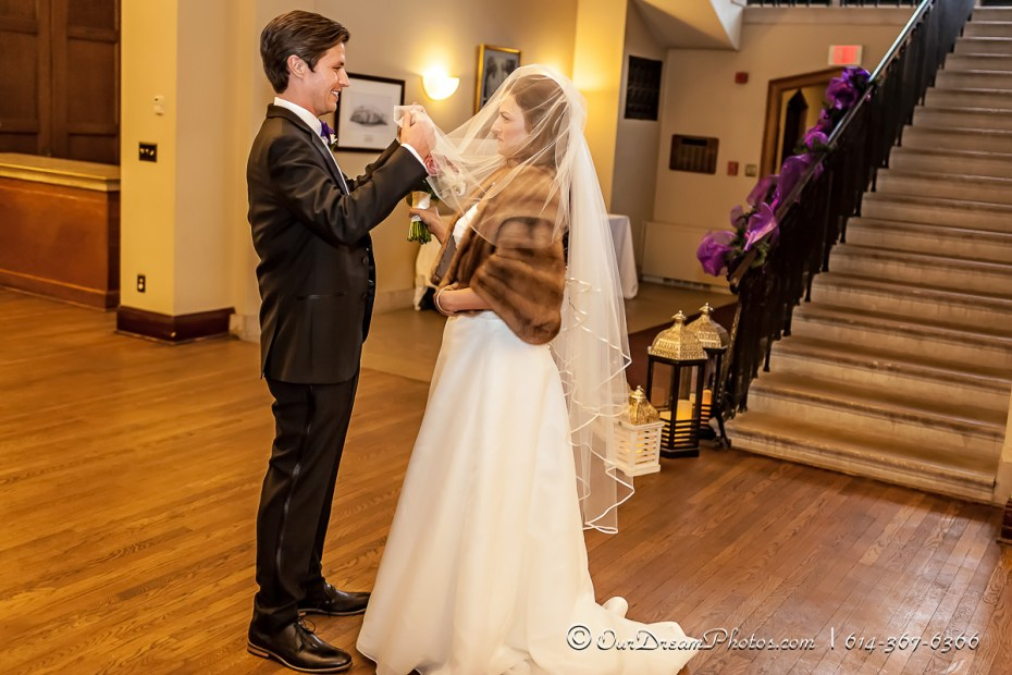 The wedding and reception of Elena Chiappinelli and Robert Casper photographed Friday, January 15, 2016 at the Jeffery Mansion in Bexley, Ohio. (© James D. DeCamp   http://OurDreamPhotos.com   614-367-6366)