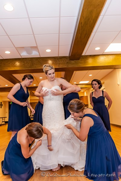 The wedding and reception of Amelia Brown and Justin Schmiedel photographed Saturday, September 26, 2015 at Our Lady of Victory Catholic Church in Columbus, Ohio. (© Brooke Hachet | http://OurDreamPhotos.com | 614-367-6366)