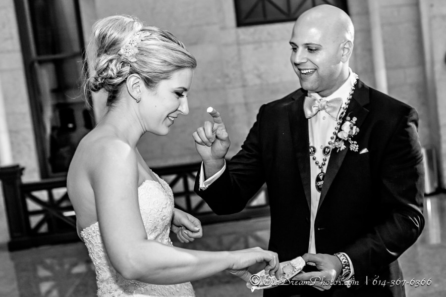 The wedding reception of Amelia Brown and Justin Schmiedel photographed Saturday, September 26, 2015 at the Ohio Statehouse in Columbus, Ohio. (© James D. DeCamp | http://OurDreamPhotos.com | 614-367-6366)