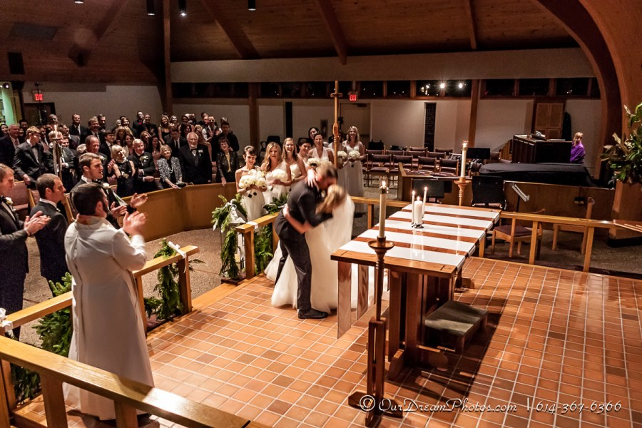 The wedding and reception of Katy Klabunde and Andrew Bice photographed Wednesday, December 30, 2015 at the Advent Lutheran Church and New Albany Country Club. (© James D. DeCamp | http://OurDreamPhotos.com | 614-367-6366)