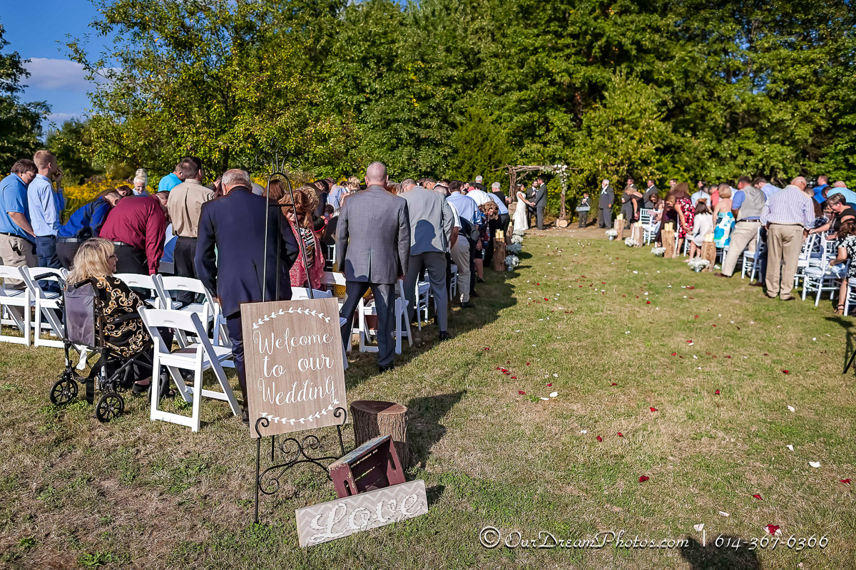 The wedding and reception of Danya Ray and Jon Sizer photographed Saturday, September 24, 2016 at the Sizer homestead. (© James D. DeCamp | http://OurDreamPhotos.com | 614-367-6366)