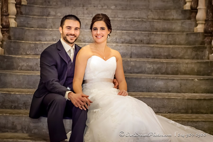 Formal photos of Melissa Kennedy & Dave Langton photographed Saturday, February 21, 2015 at The Ohio Statehouse. (© James D. DeCamp | http://OurDreamPhotos.com | 614-367-6366)