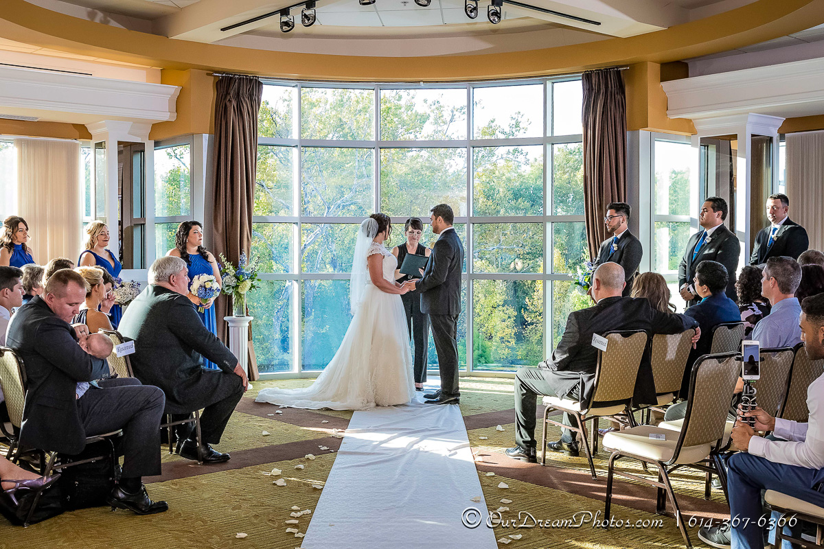 The wedding and reception of Steffany Swick and Pablo Castillo photographed Saturday, October 7, 2017 at Creekside Conference Center. (© James D. DeCamp | http://OurDreamPhotos.com | 614-367-6366)