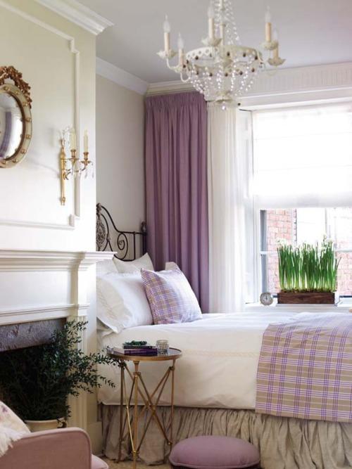 Purple bedroom