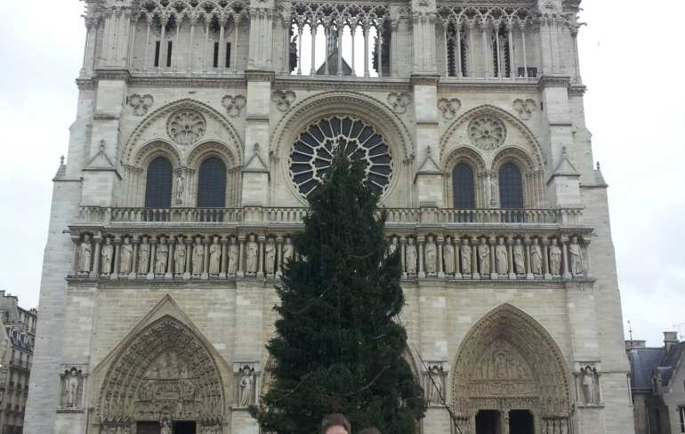 Winter in Paris: Notre Dame Christmas Tree