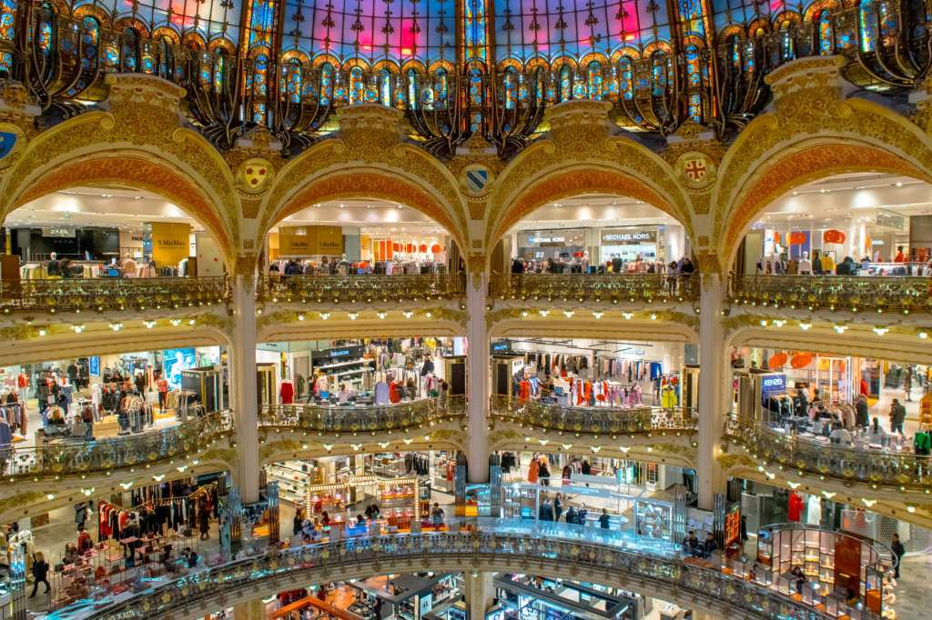 Second trip to Paris: Galeries Lafayette