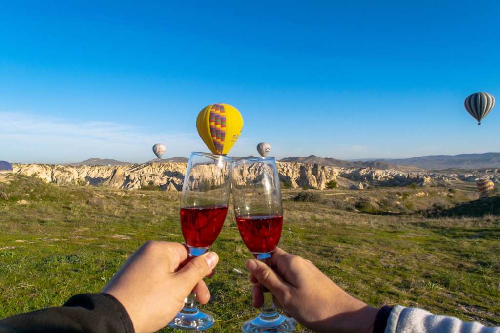 Balloon Toast in Cappadocia, Turkey