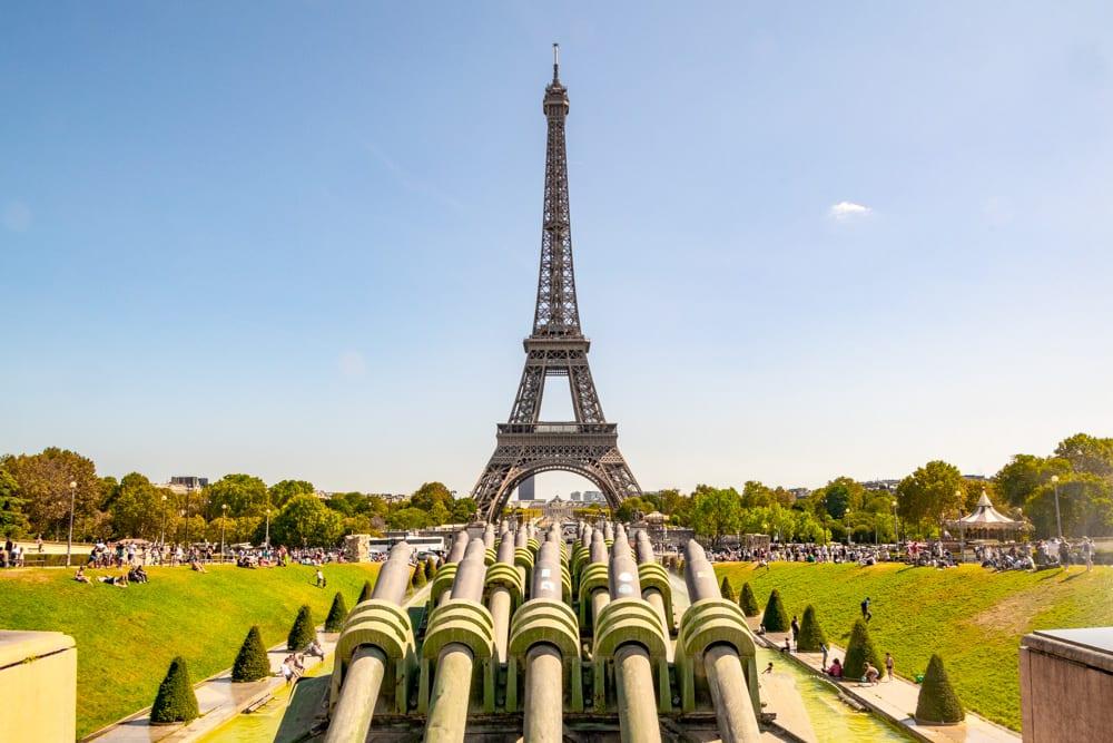 Paris in August: Eiffel Tower