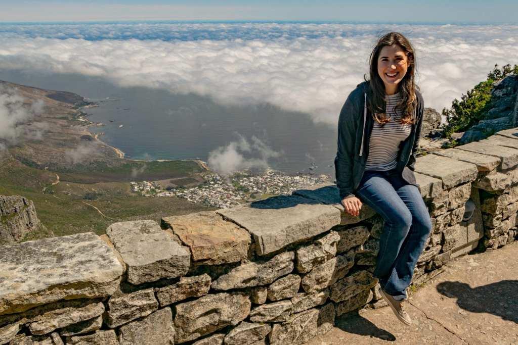 Girl on Table Mountain