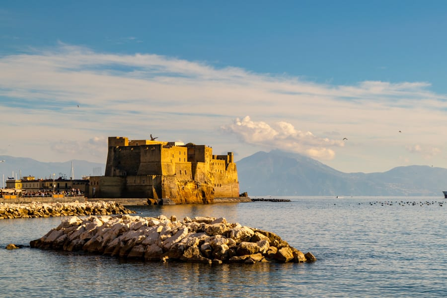 View of Castel dell'Ovo, Naples, Italy