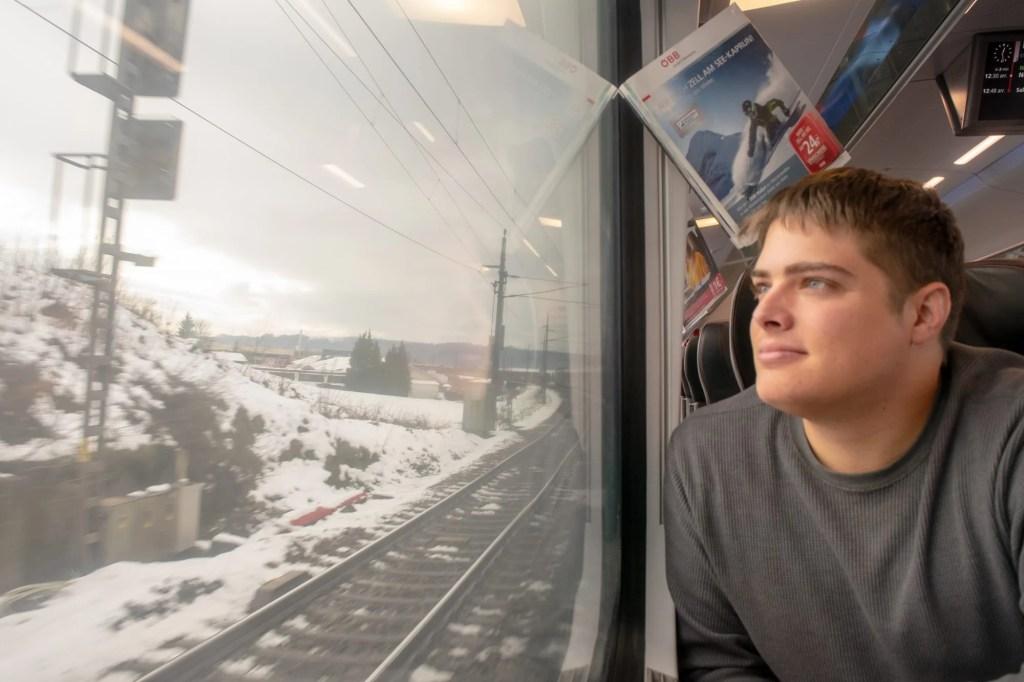 Vienna to Cesky Krumlov by Train: Train Views