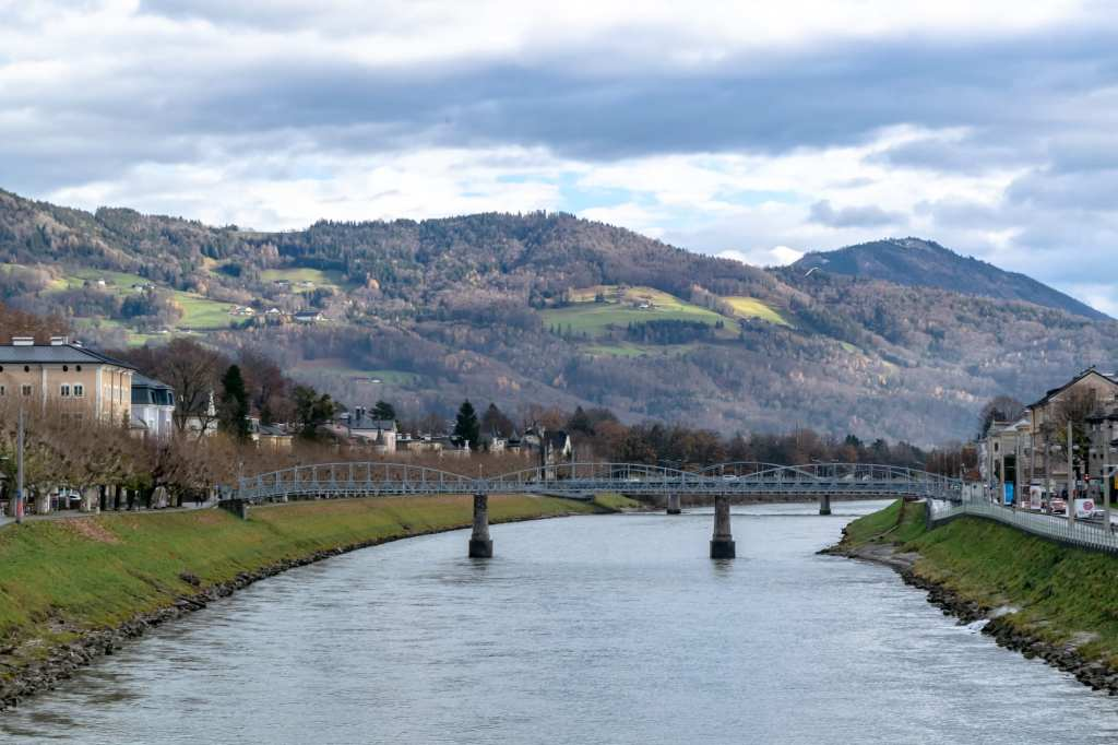Salzburg in Winter: View of River