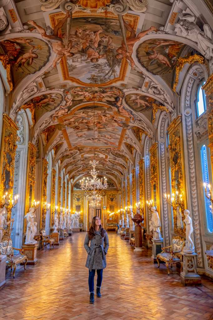 Hidden Gems in Rome: Girl in the Galleria at the Palazzo Doria Pamphilj