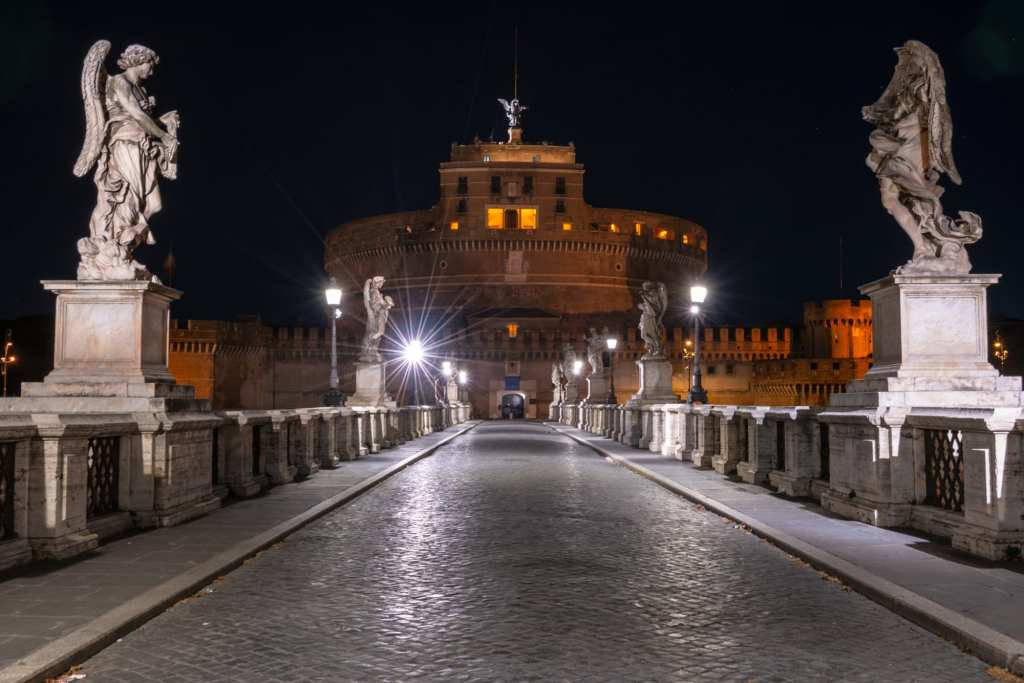 Castel Sant'Angelo with bridge at night, What to Do in Rome at Night