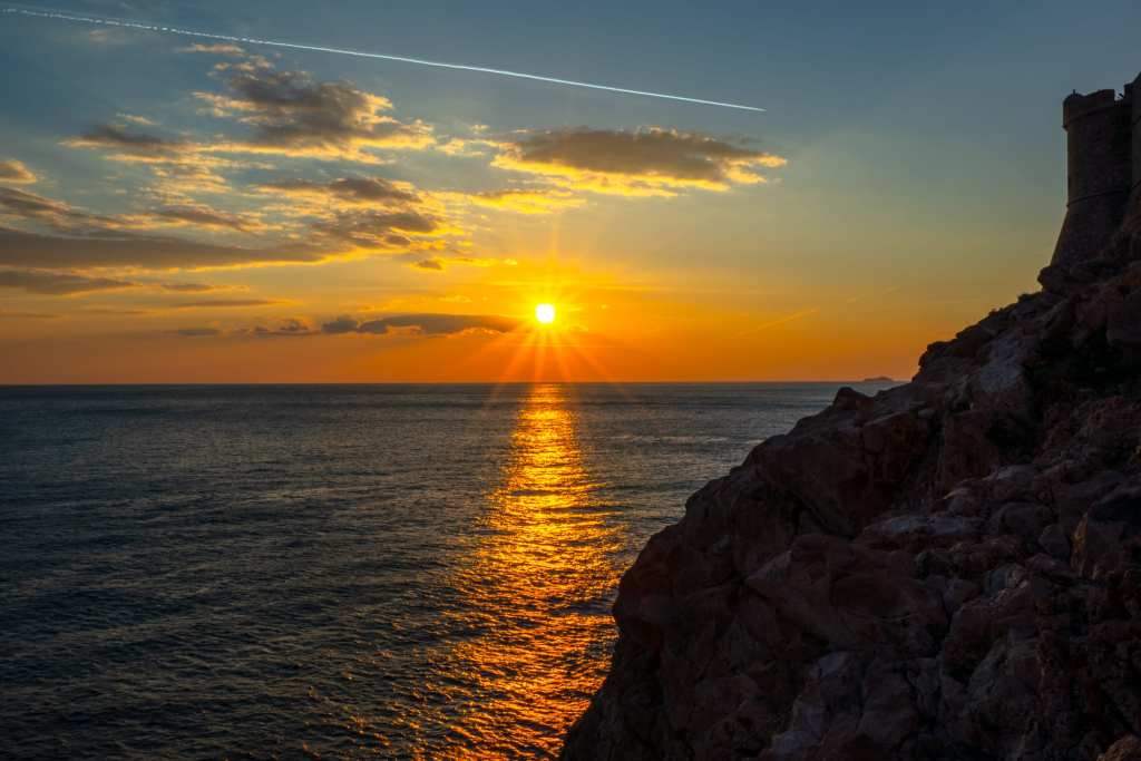 Fun Things to Do in Dubrovnik Croatia: Sunset from Buza Cliff Bar