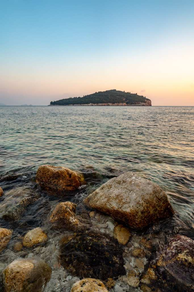 Fun Things to Do in Dubrovnik Croatia: Lokrum Island at Sunset