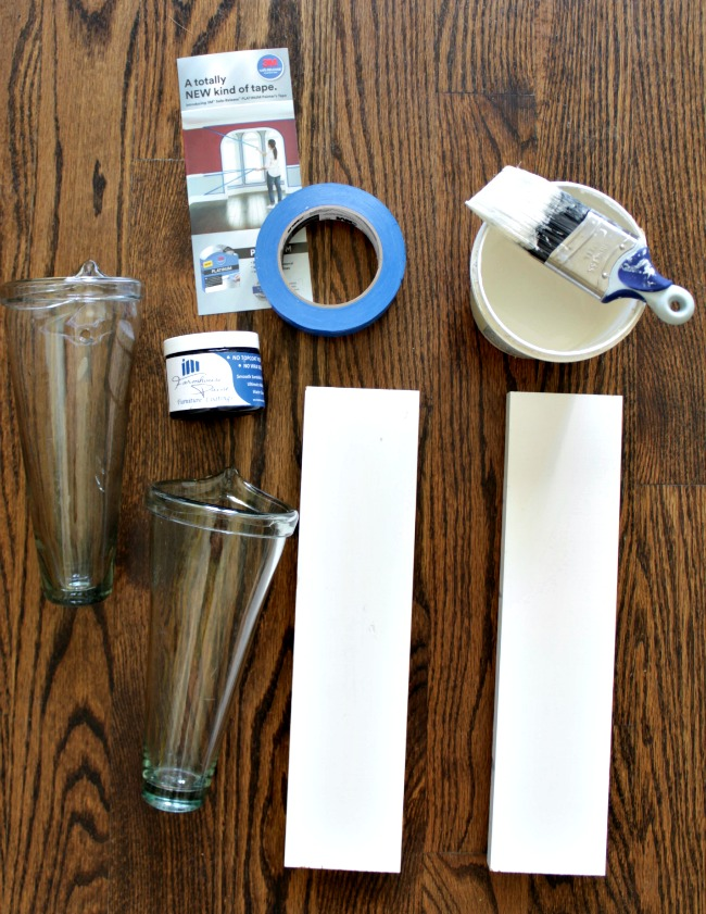 diy striped wall vases