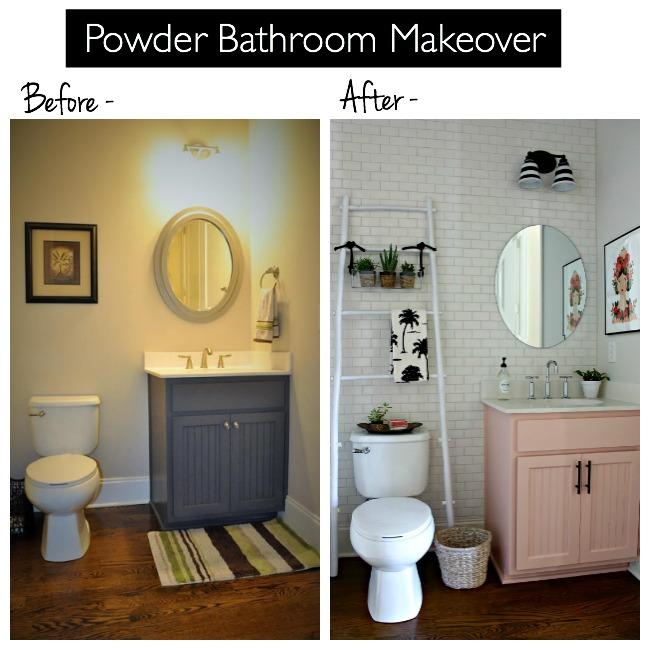 Powder Bathroom Makeover
