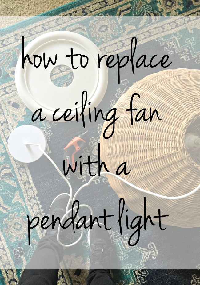 How to replace a ceiling fan with a pendant light our fifth house how to replace a ceiling fan aloadofball Images