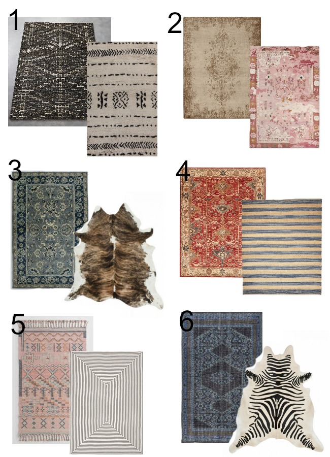 area rug combos that work