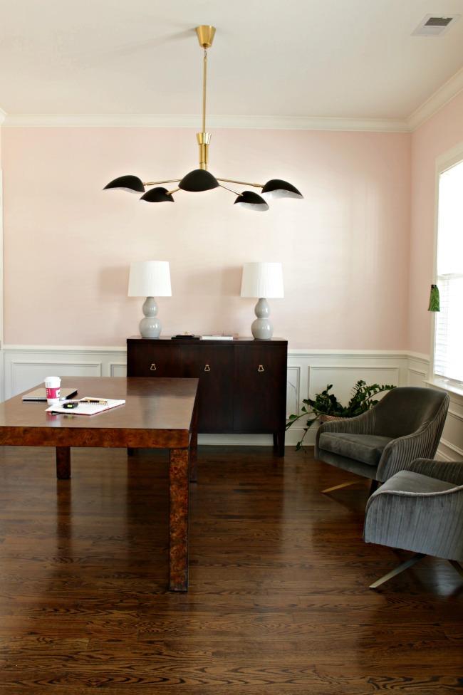 pink walls office progress